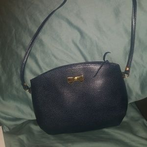 Nina Ricci navy leather bag with card of Authentic